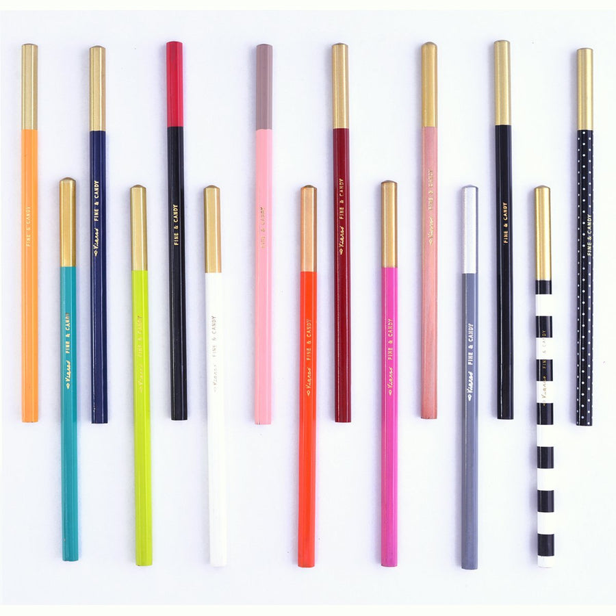 Fine & Candy Fine & Candy Graphite Pencils in 15 colorways - GREER Chicago Online Stationery Shop
