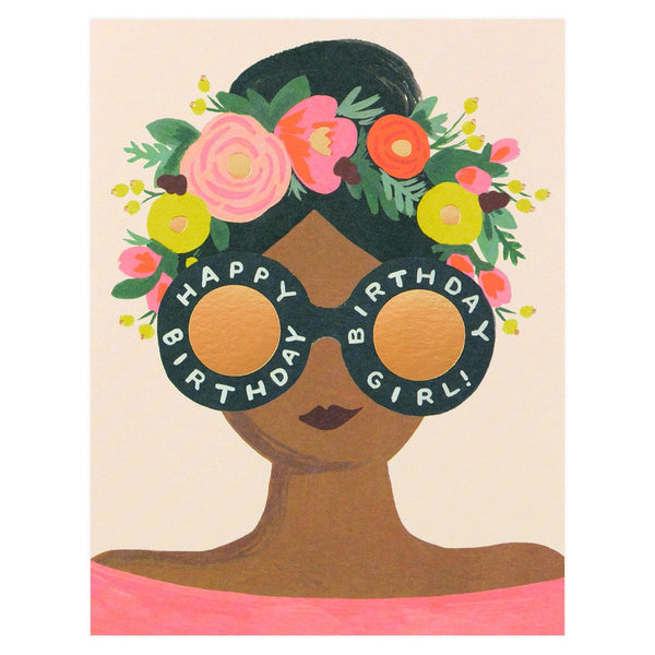 Flower Crown Birthday Girl Card By Rifle Paper Co.