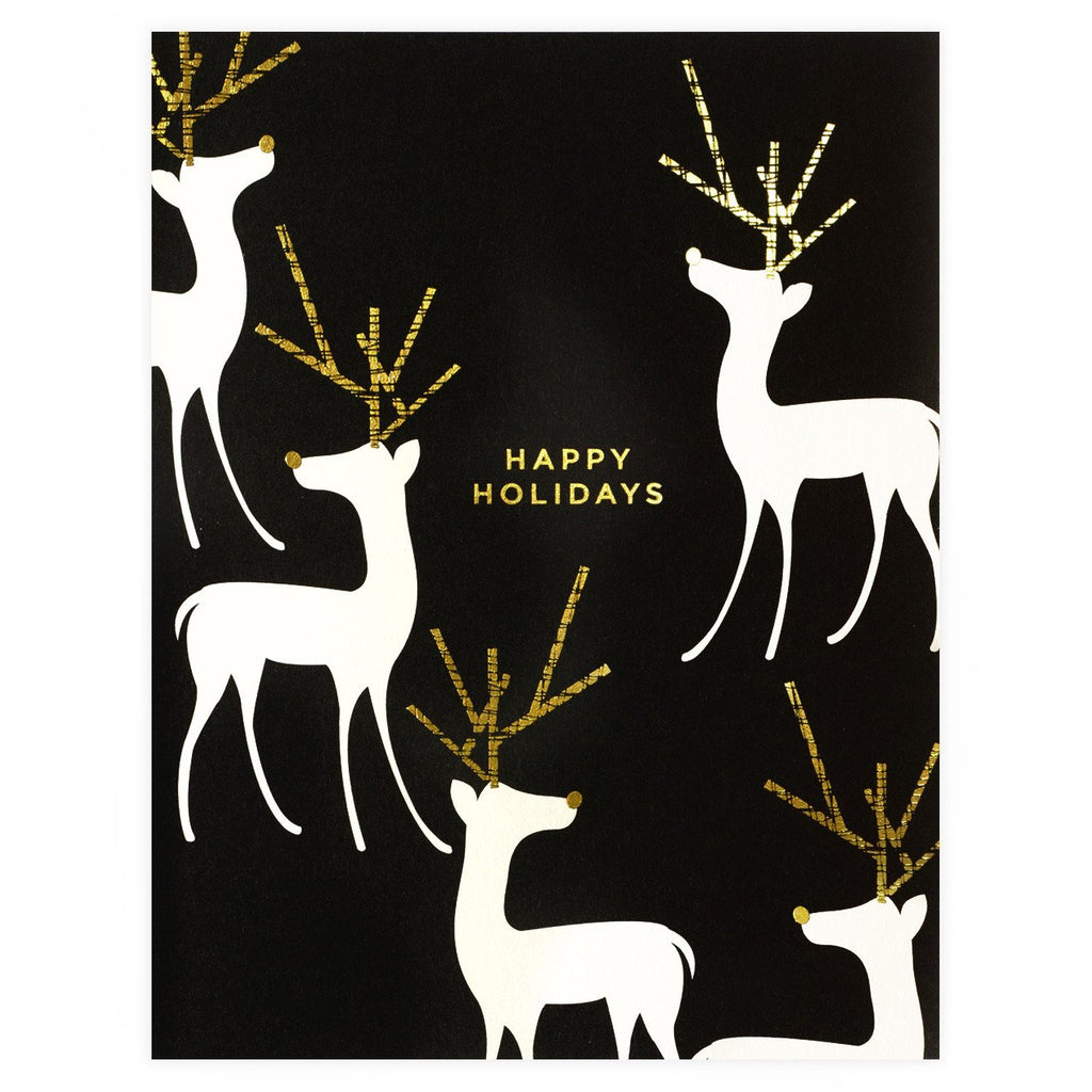 Foil Reindeer Boxed Holiday Cards By Snow & Graham