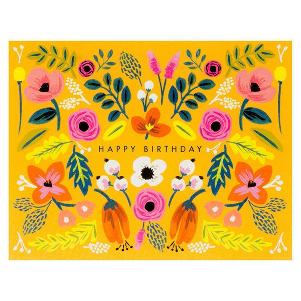Folk Birthday Card - GREER Chicago Online Stationery