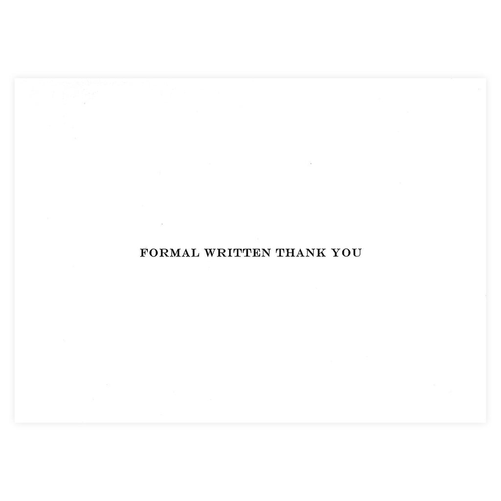Formal Written Thank You Cards By Visual Treats