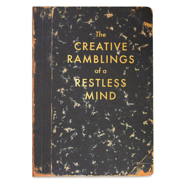 The Creative Ramblings Of A Restless Mind Blank Journal By Frantic Meerkat - 1