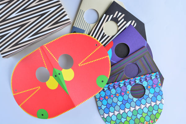 Princeton Architectural Press Fredericks & Mae Animal Mask Folded Note Cards Boxed - GREER Chicago Online Stationery Shop