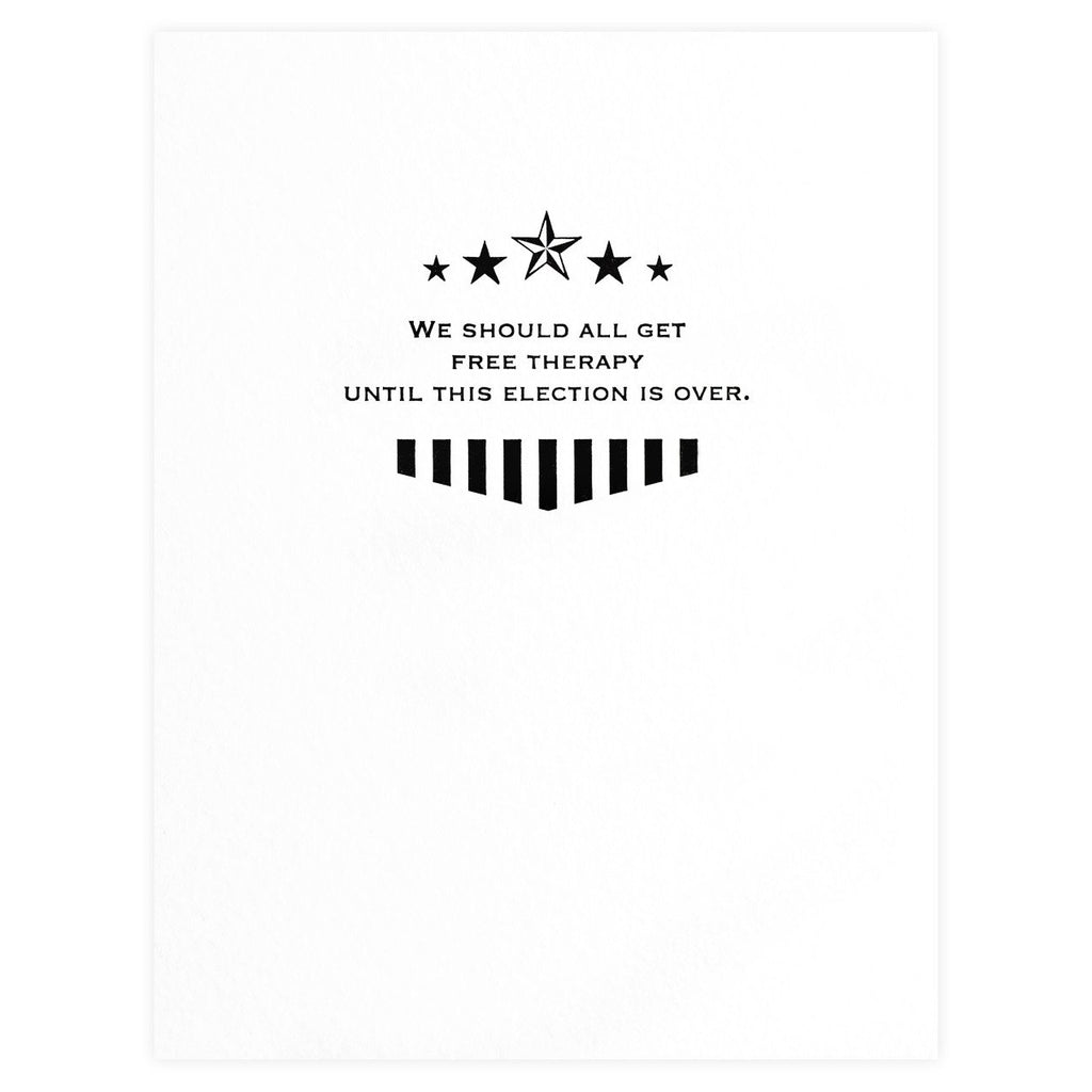 State Of The Union Free Therapy Greeting Card By Sapling Press