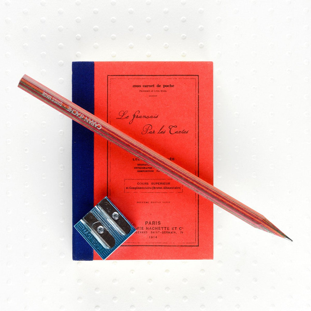 French Text Mini Notebook By Rough Note - 2