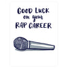 Good Luck On Your Rap Career Greeting Card Frog & Toad Press  - GREER Chicago