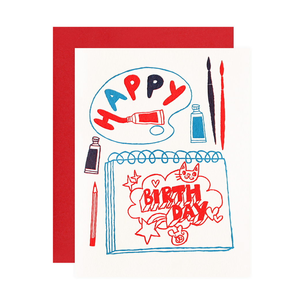 Fugu Fugu Artsy Birthday Card