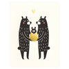Fugu Fugu Baby Black Bear New Baby Card