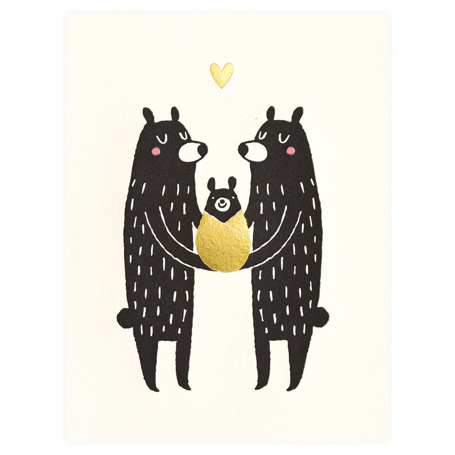Baby Black Bear New Baby Card