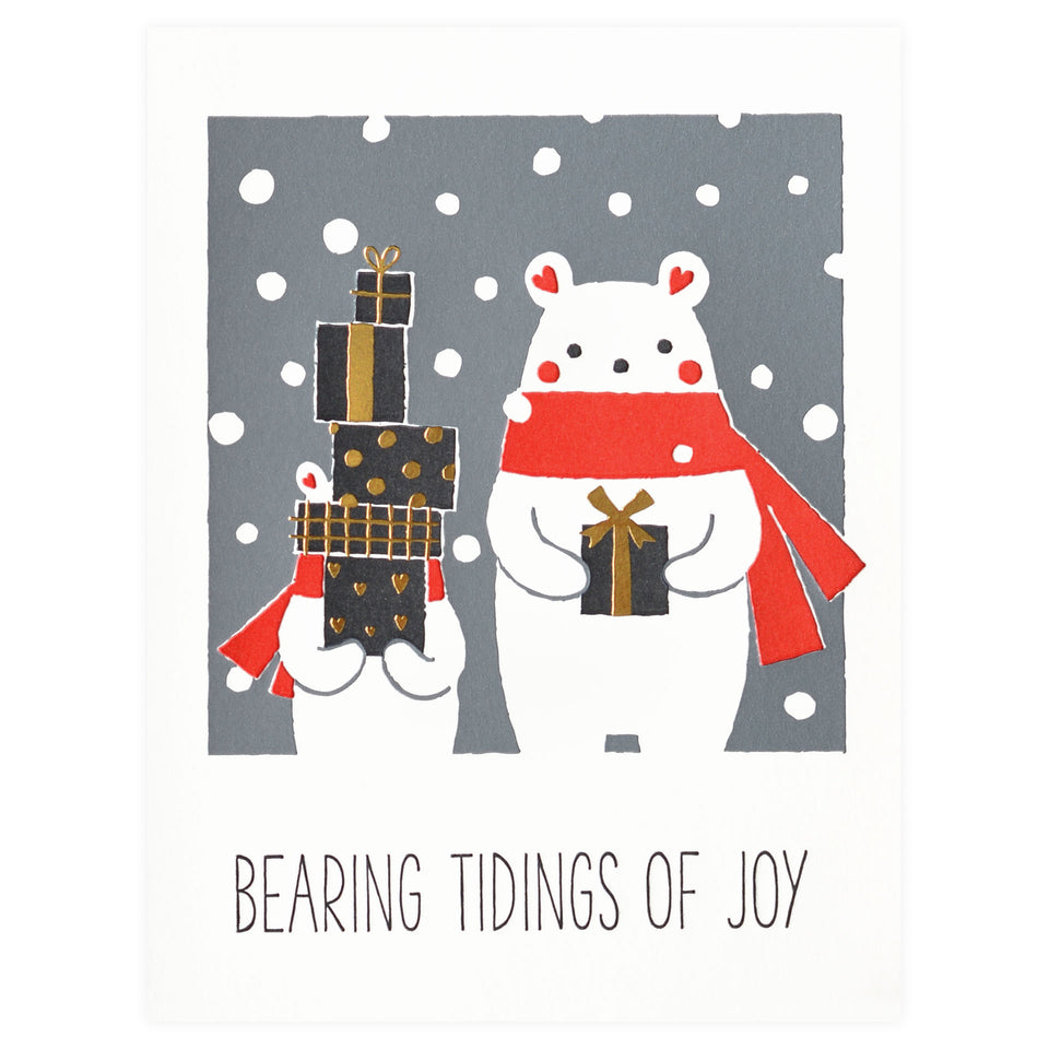 Fugu Fugu Bearing Tidings of Joy Christmas Cards Boxed or Single