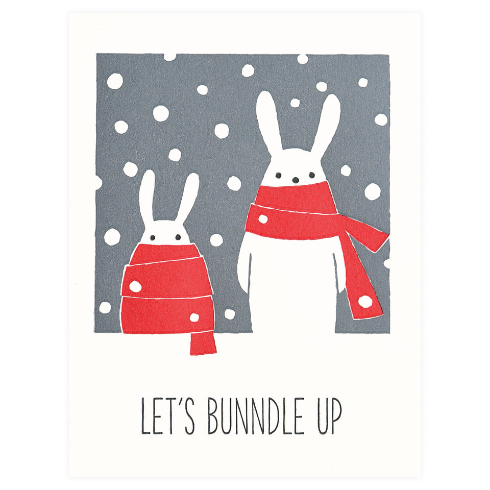 Fugu Fugu Let's Bunndle Up Holiday Cards Boxed or Single