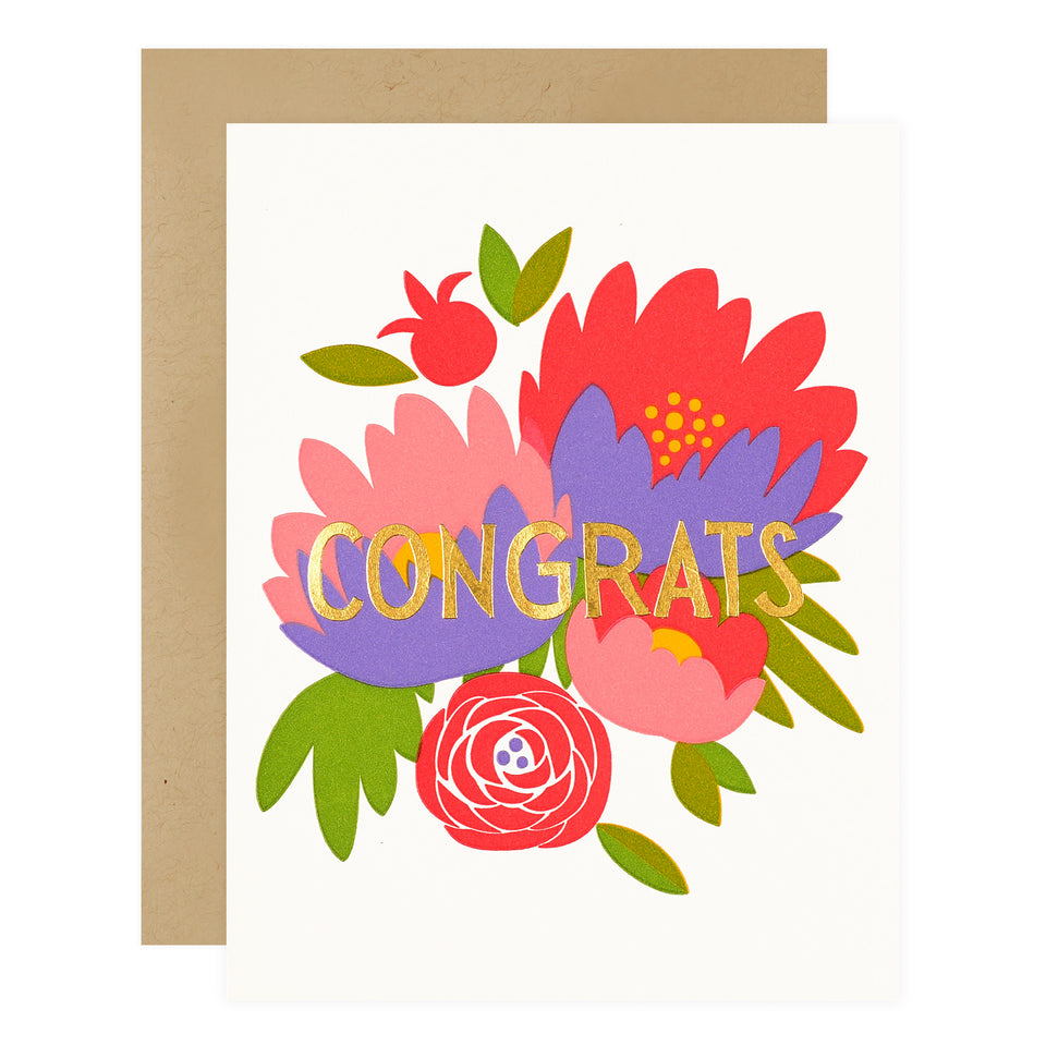 Fugu Fugu Congrats Bouquet Greeting Card