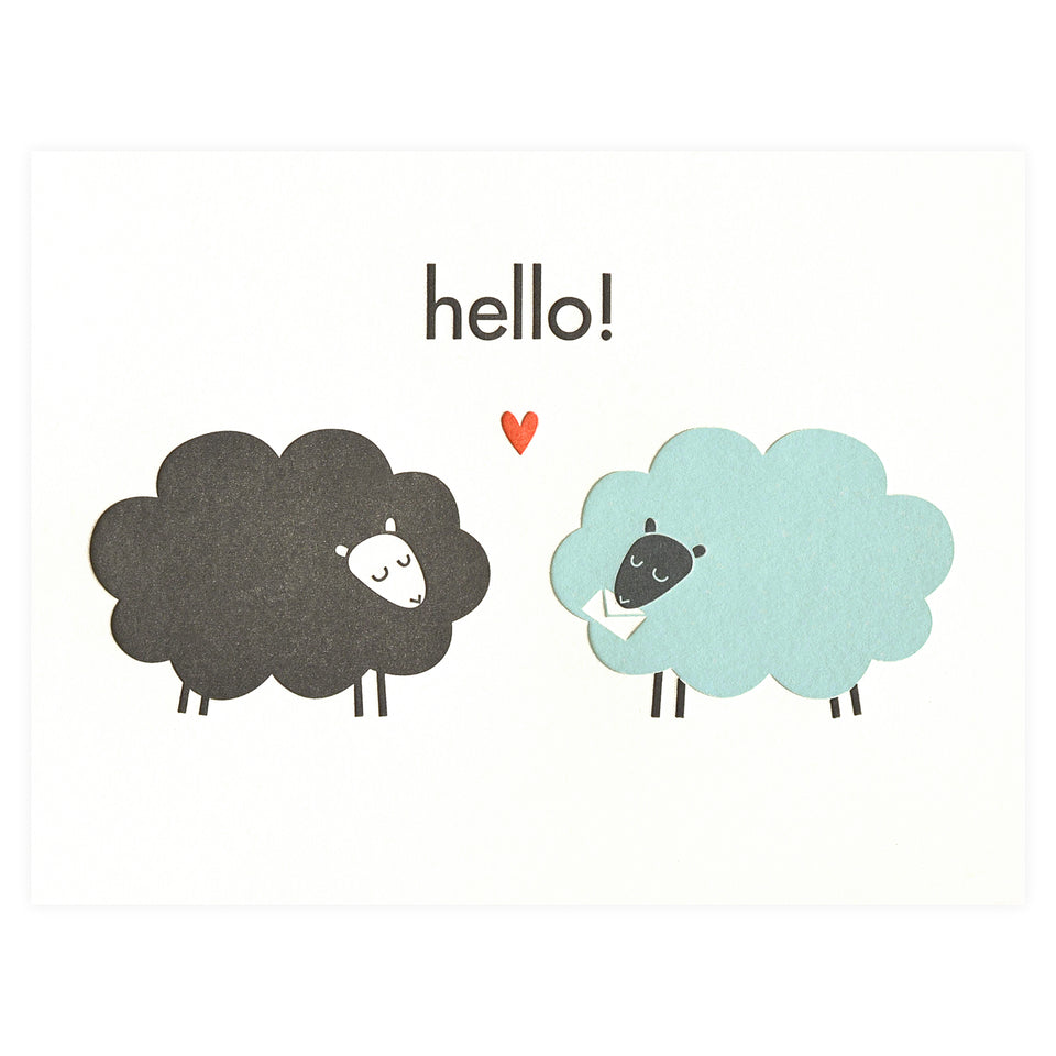 Fugu Fugu Hello Sheep Greeting Card