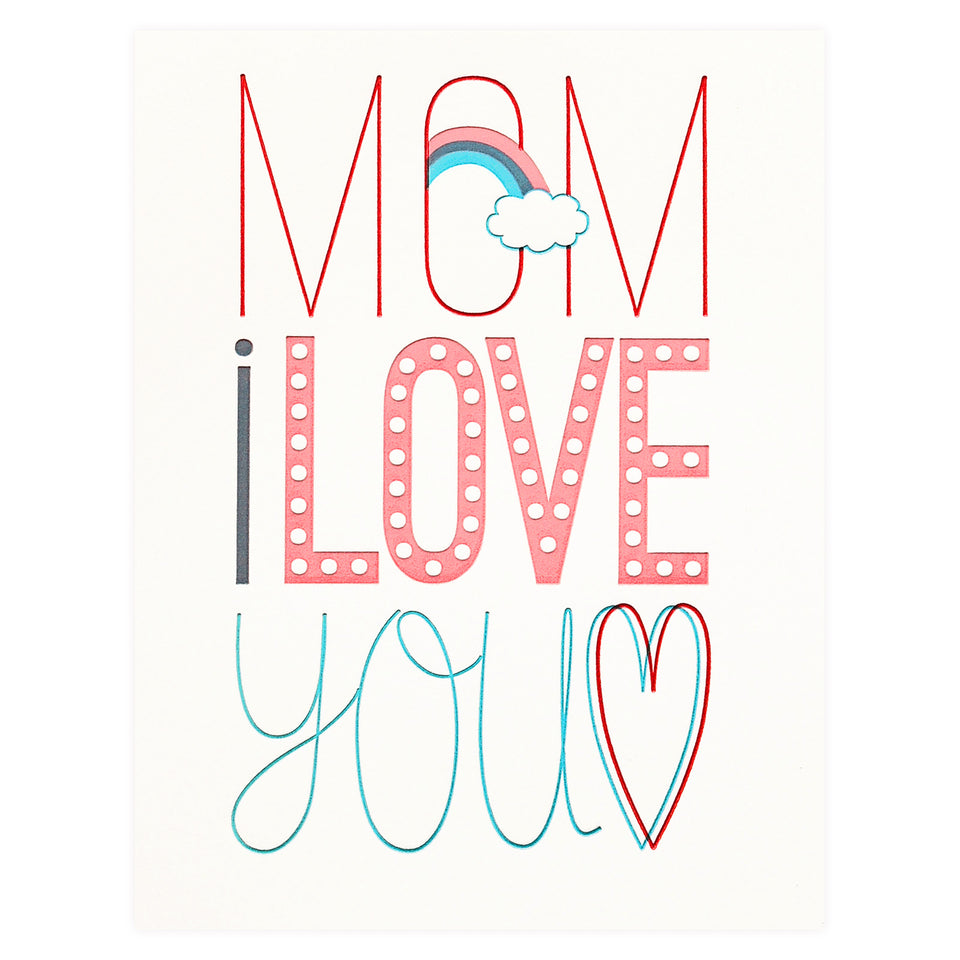 Fugu Fugu Mom Fun Fonts Mother's Day Card