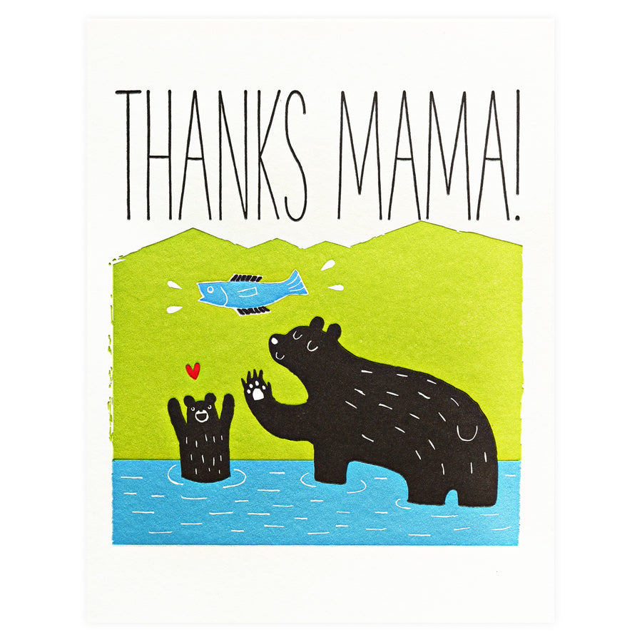 Fugu Fugu Thanks Mama Bear Mother's Day Card - GREER Chicago Online Stationery Shop