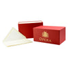 G. Lalo Classic Gift Box Opera Rouge Deckle Edge Flat Note Cards Ecru - GREER Chicago Online Stationery Shop