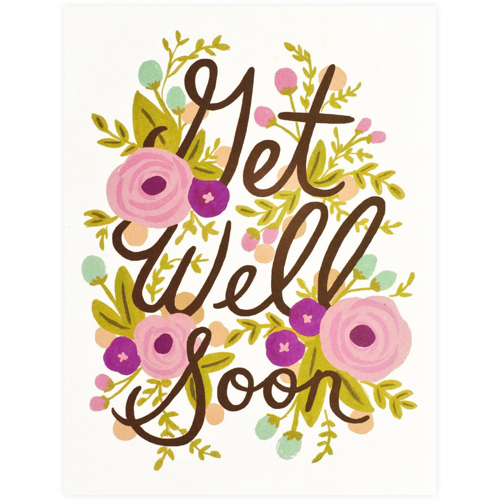 Rifle Paper Co. Get Well Soon Floral Card - GREER Chicago Online Stationery Shop