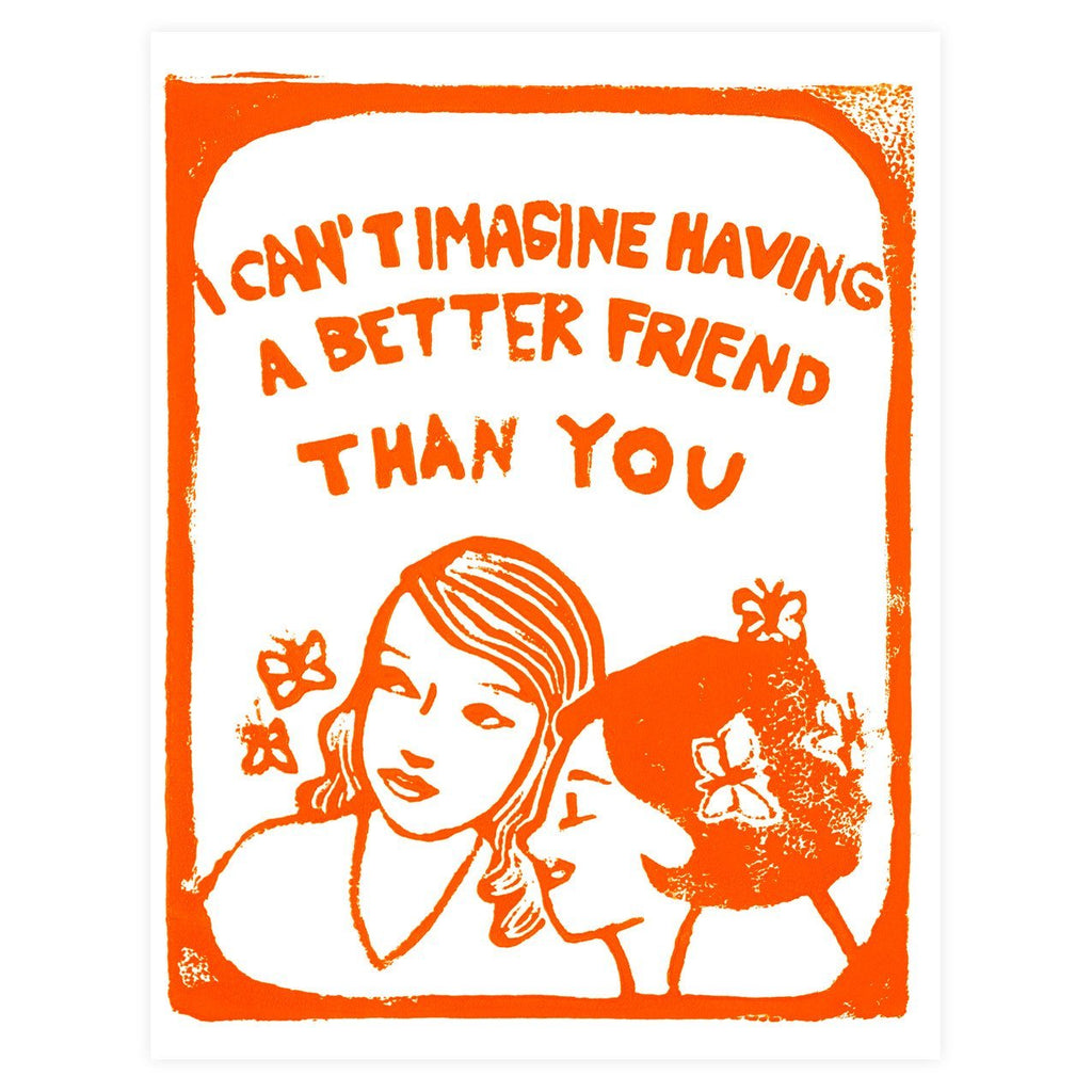 Can't Imagine Friendship Greeting Card By Ghost Academy - 1