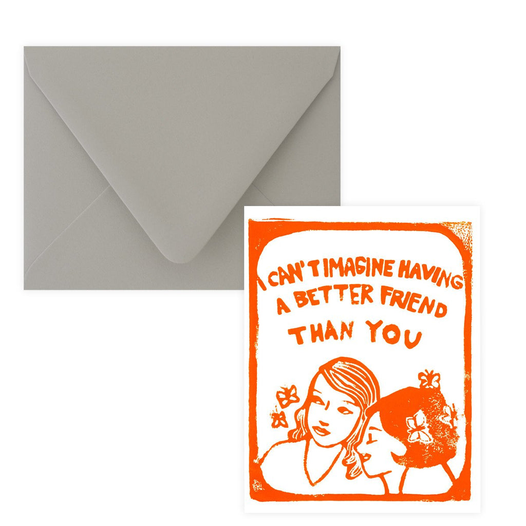Can't Imagine Friendship Greeting Card By Ghost Academy - 2
