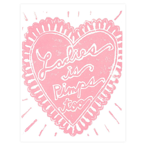 Ladies Is Pimps Too Greeting Card By Ghost Academy