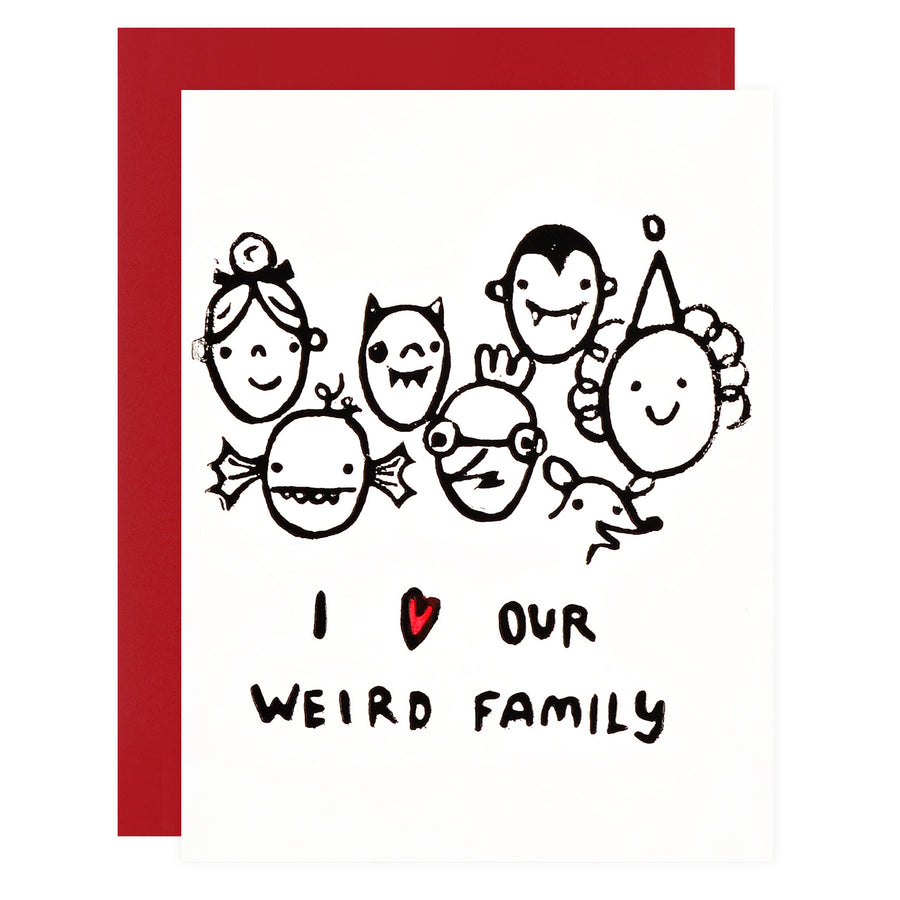 Ghost Academy Our Weird Family Greeting Card