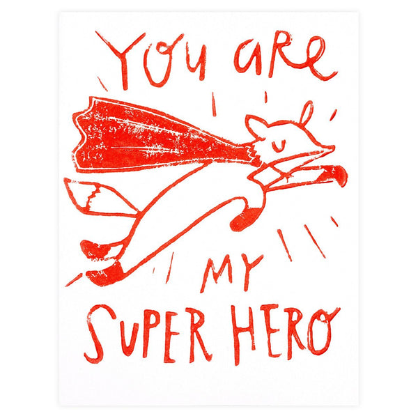 Super Hero Greeting Card By Ghost Academy