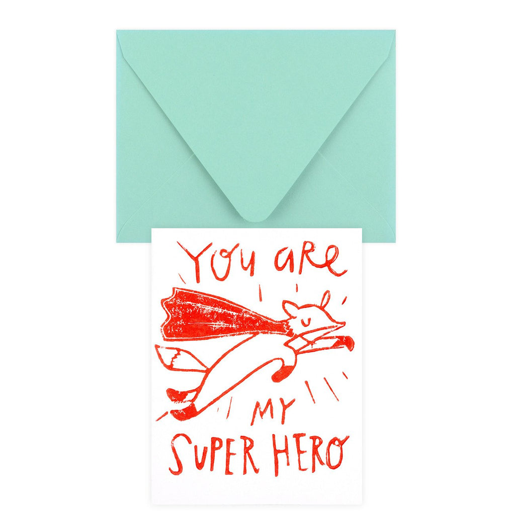 Super Hero Greeting Card By Ghost Academy - 2