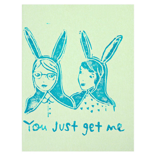 You Just Get Me Friendship Greeting Card By Ghost Academy