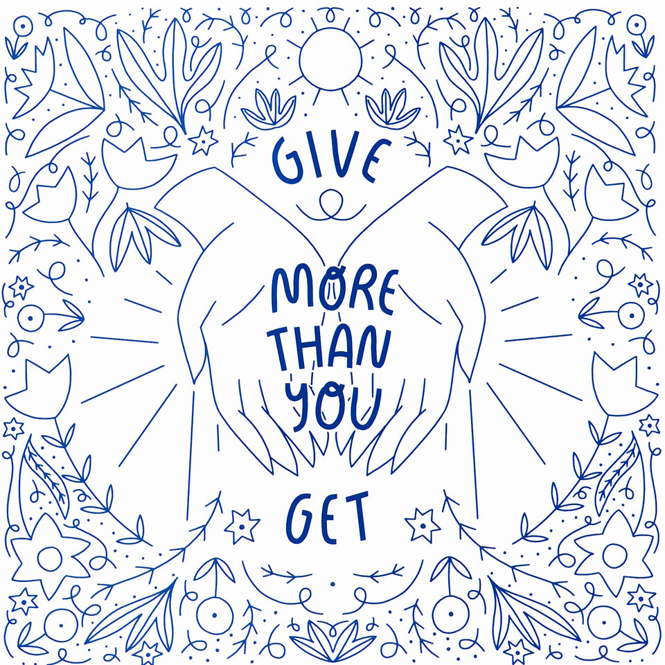 Hammerpress Give More Than You Get Print 8 x 10""