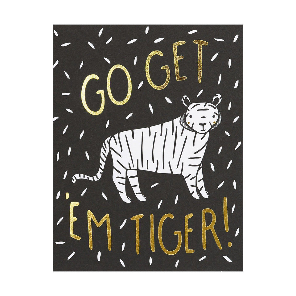 Gingiber Go Get 'Em Tiger Greeting Card