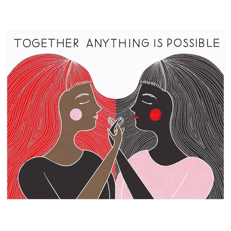 Together Anything is Possible Greeting Card