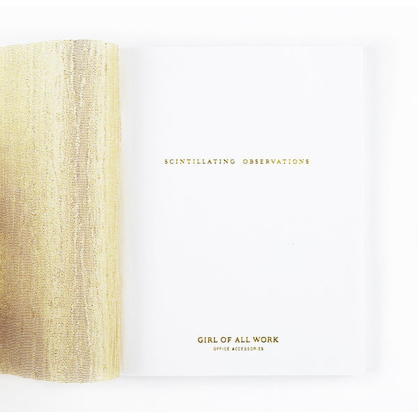 Girl of All Work Scintillating Observations Small Notebook - GREER Chicago Online Stationery Shop
