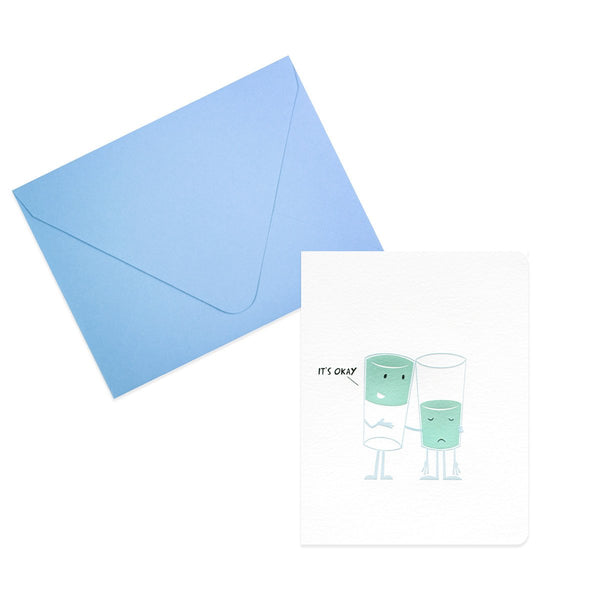 Glass Half Full Encouragement Card - GREER Chicago Online Stationery