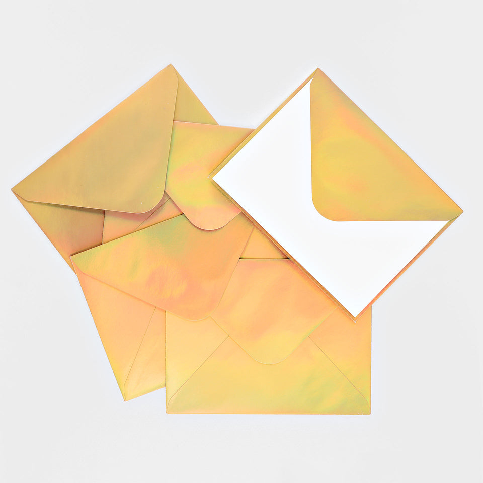 The Social Type Gold Hologram Envelope Flat Note Cards Boxed