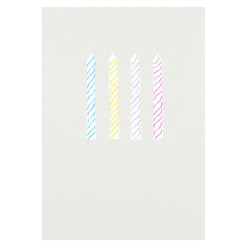Gold Teeth Brooklyn Birthday Candles Greeting Card