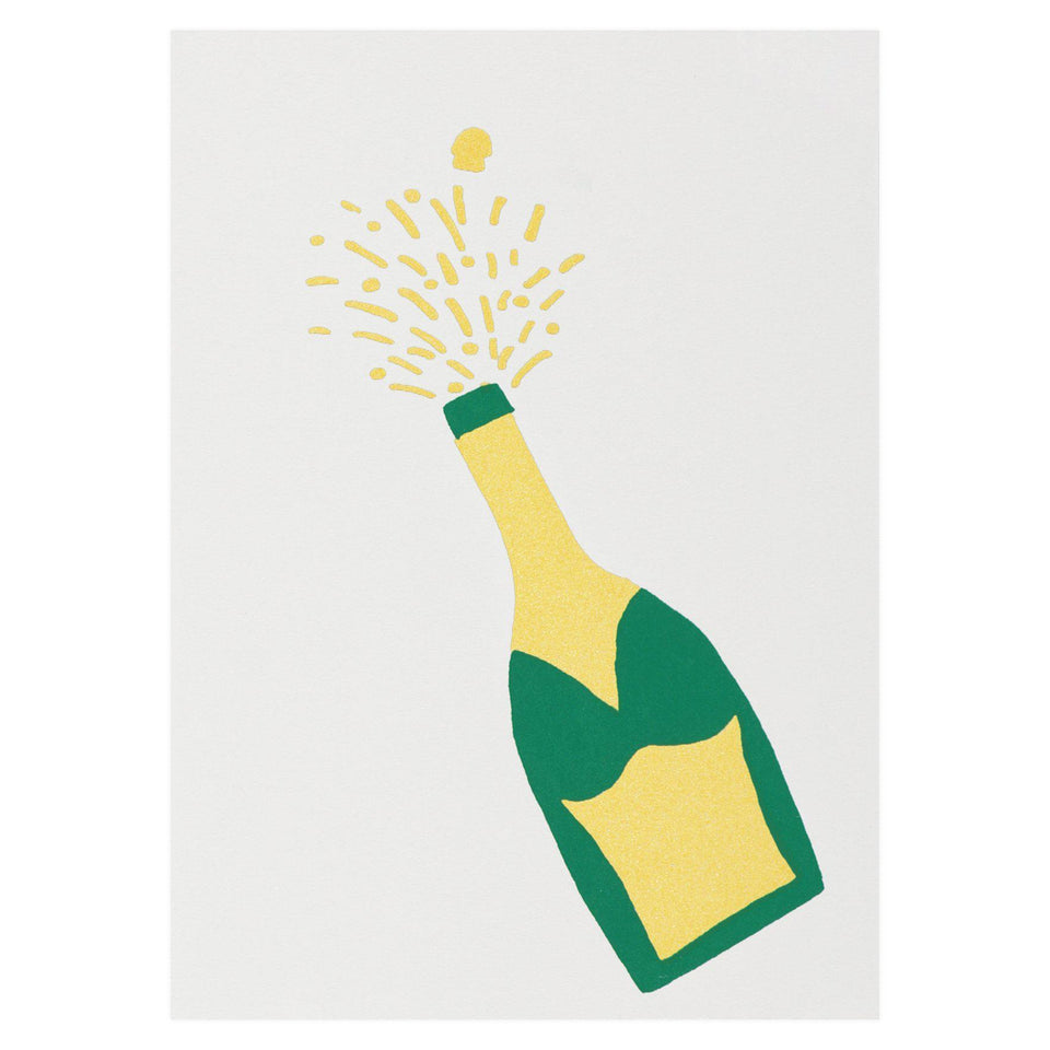 Gold Teeth Brooklyn Champagne Greeting Card