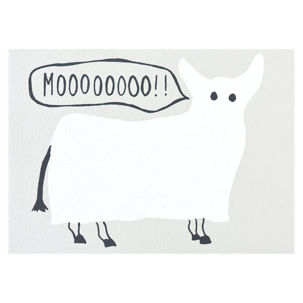 Ghost Cow Halloween Card