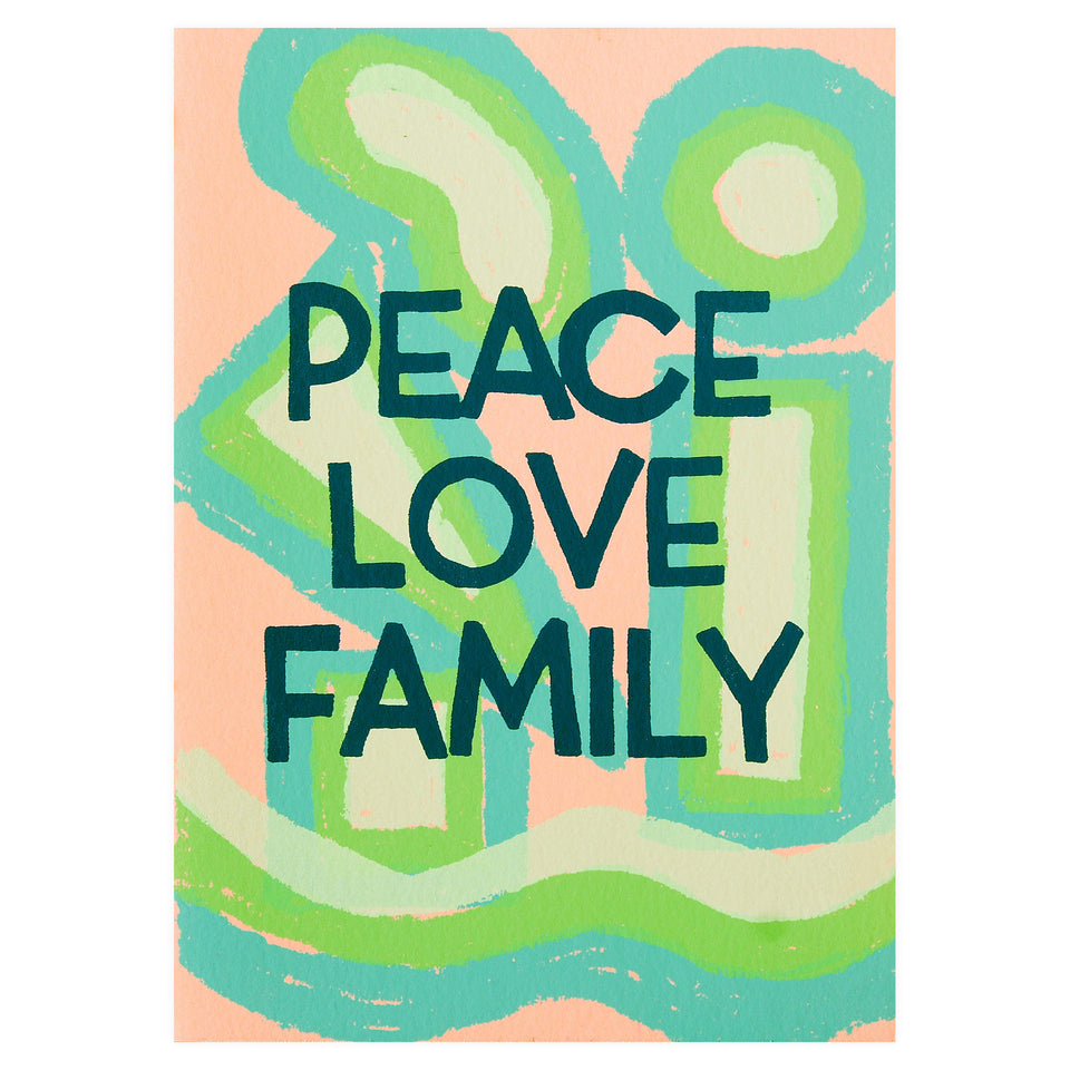 Gold Teeth Brooklyn Peace Love Family Holiday Card