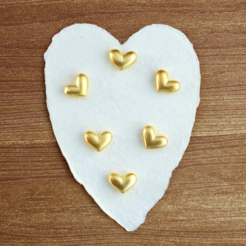GOLDEN HEART POCKET CHARMS - GREER Chicago Online Stationery