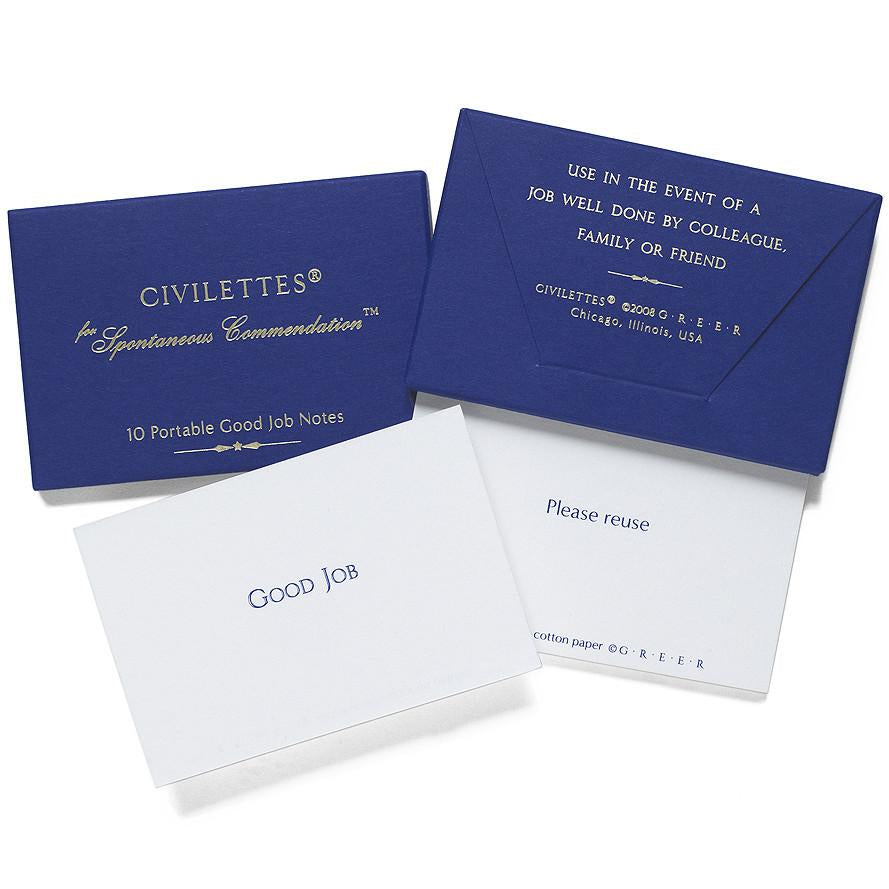 Civilettes Portable Good Job Notes - GREER Chicago Online Stationery