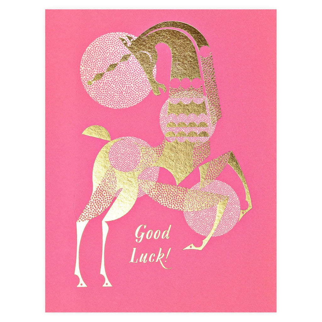 Good Luck Unicorn Greeting Card By Red Cap Cards