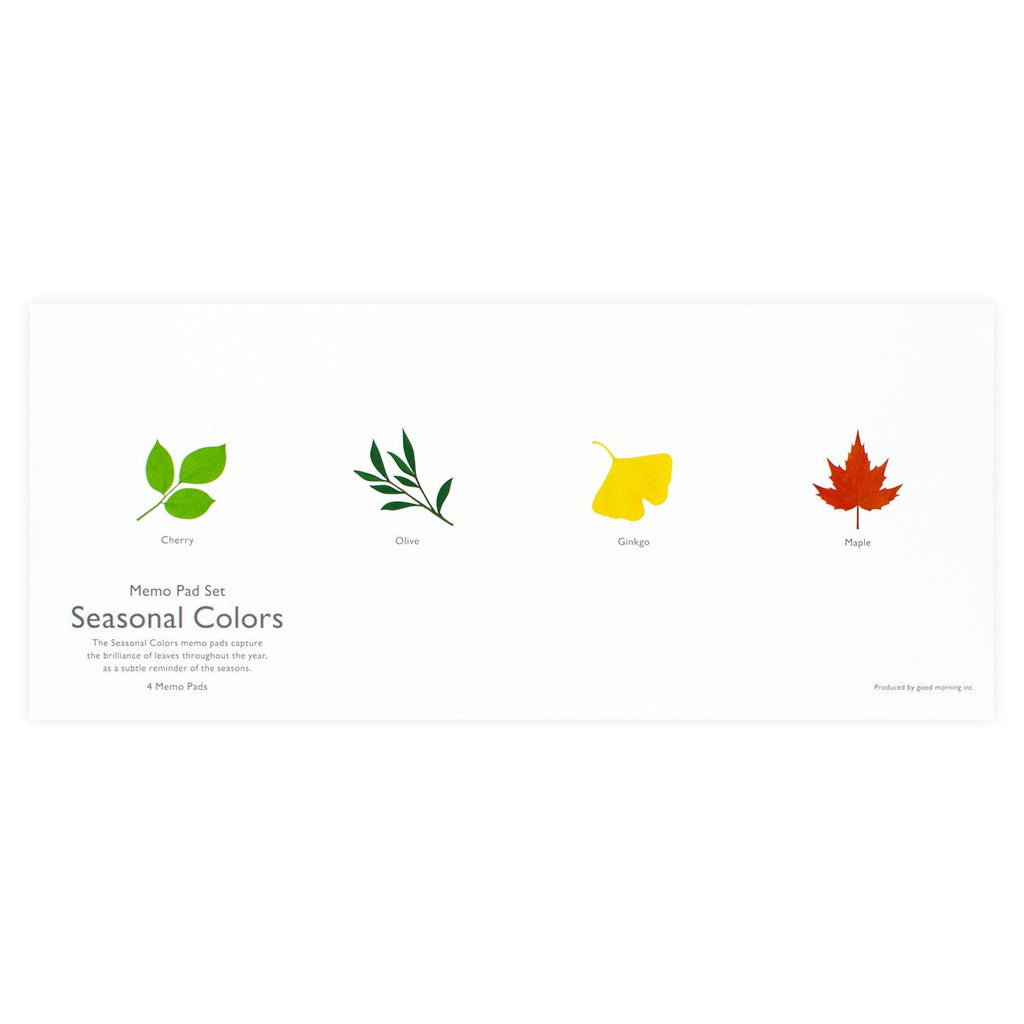 Seasonal Colors Memo Pad Set By Good Morning - 2