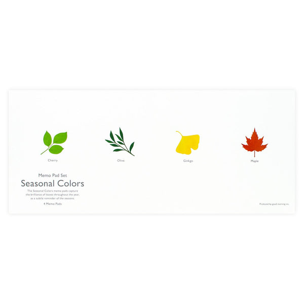 Seasonal Colors Memo Pad Set - GREER Chicago Online Stationery