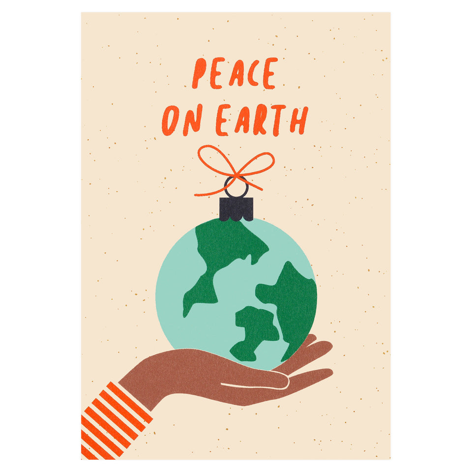 Graphic Factory Peace on Earth Christmas Card