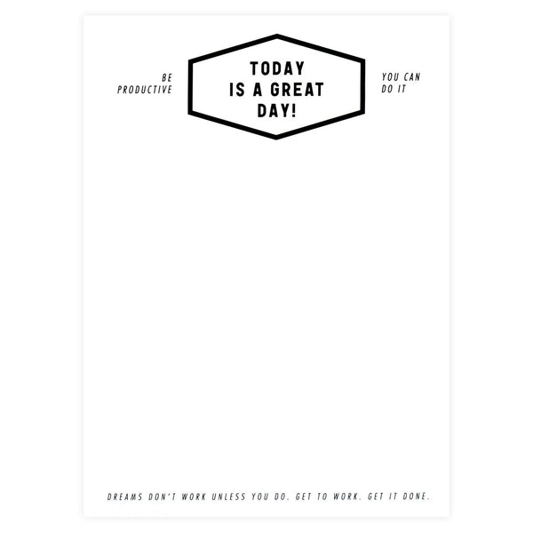 Great Day Notepad By Oh Hello Friend