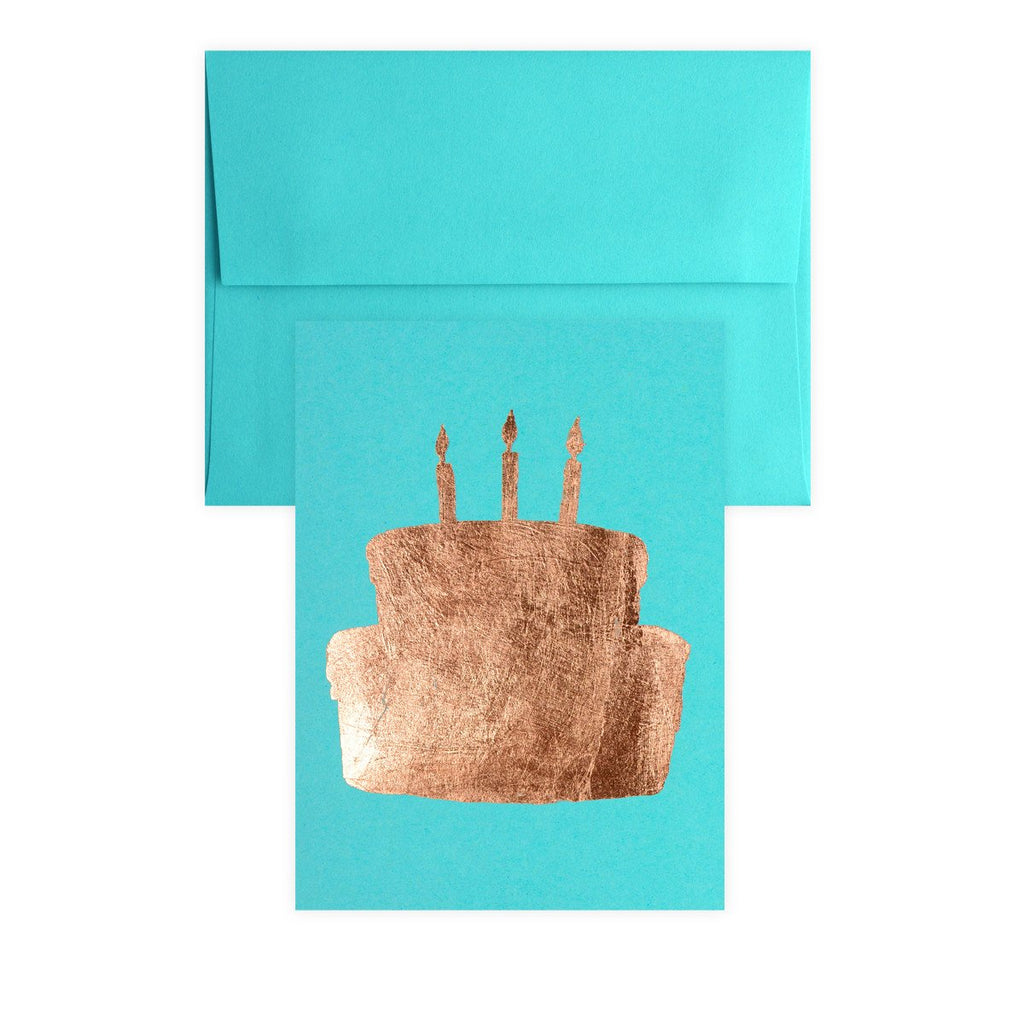 Cake Copper Leaf Greeting Card By Catherine Greenup - 2