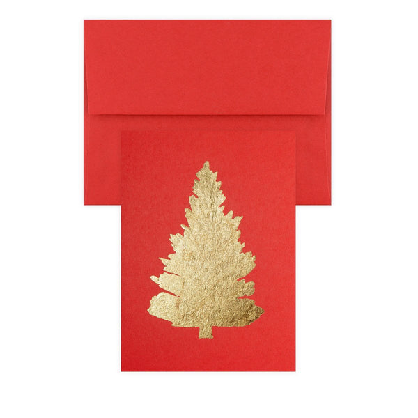 Tree Gold Leaf Holiday Card By Catherine Greenup - 1