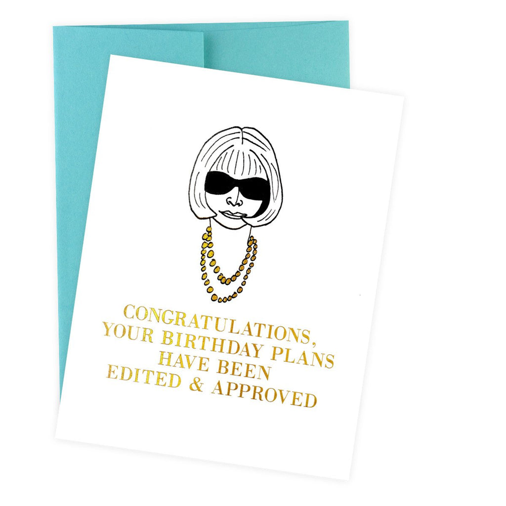 Edited & Approved Birthday Card By Greenwich Letterpress - 2