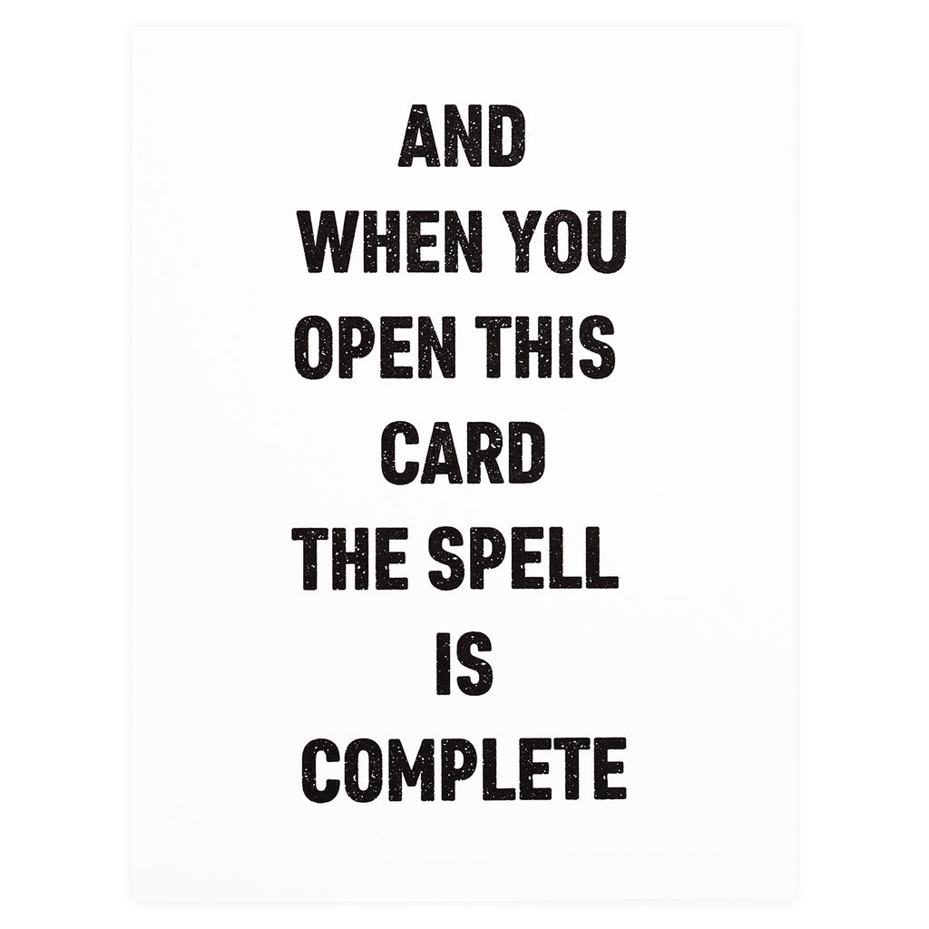 Greenwich Letterpress Spell Greeting Card