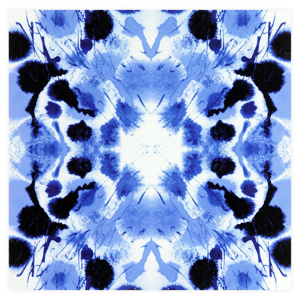 Indigo Tie-Dye Square Note Card Set By GREERChicago - 1